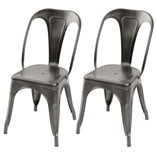 chaise industrielle en m tal style tolix rdv destock. Black Bedroom Furniture Sets. Home Design Ideas