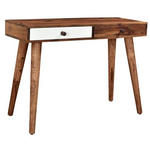 bureau style scandinave en bois 2 tiroirs rdv destock. Black Bedroom Furniture Sets. Home Design Ideas